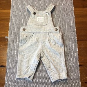 Carters gray cotton overalls size 3 months